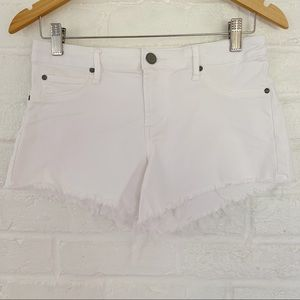 Article Of Society White Jean Cutoffs